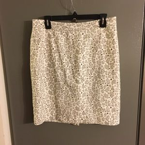 Loft Women's Animal Print Skirt Size 10